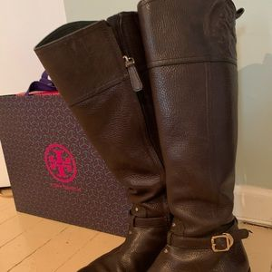Tory Burch Marlene Brown Riding Boots 6.5